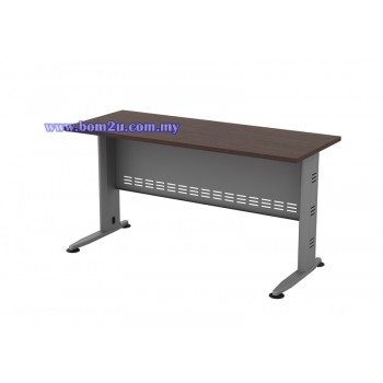 Q-Series Melamine Woodgrain Standard Writing Table (w/o telephone cap)