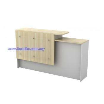 B-SCT 1800-SET Melamine Woodgrain Executive Reception Counter