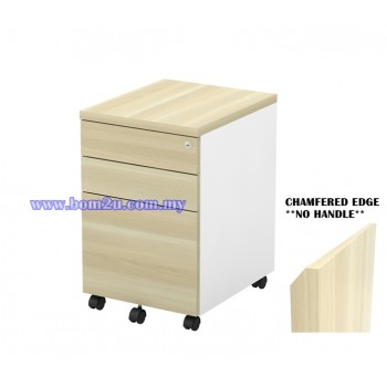 B-YMP 3(E) Melamine Woodgrain 2D+1F Mobile Pedestal With Lock