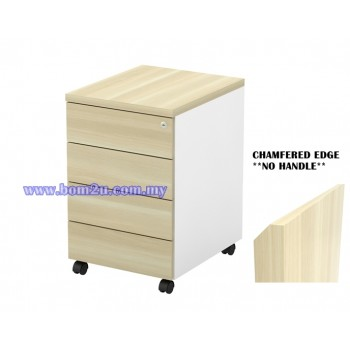 B-YMP 4(E) Melamine Woodgrain 4 Drawer Mobile Pedestal With Lock