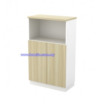 B-YOD 13(E) Melamine Woodgrain 3 Levels Semi Swinging Door Medium Cabinet With Lock