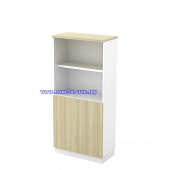 B-YOD 17(E) Melamine Woodgrain 4 Levels Semi Swinging Door Medium Cabinet With Lock