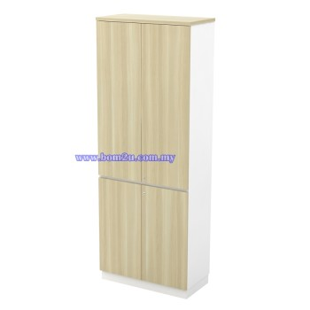 B-YTD 21(E) Melamine Woodgrain 5 Levels Swinging Door High Cabinet With Lock