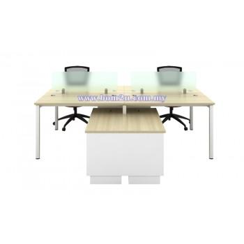 SL-Series Melamine Woodgrain 4 Seater Spacious Workstation