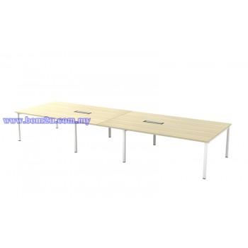 SVB-48 Melamine Woodgrain Rectangular Shape Conference Table With U-Leg