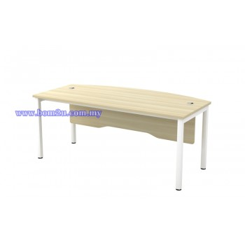 SL-Series Melamine Woodgrain 6' D-Shape Executive Table
