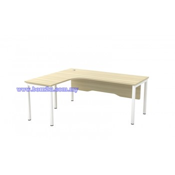 SL-Series 1515/1815 Melamine Woodgrain L-shape Superior Compact Table