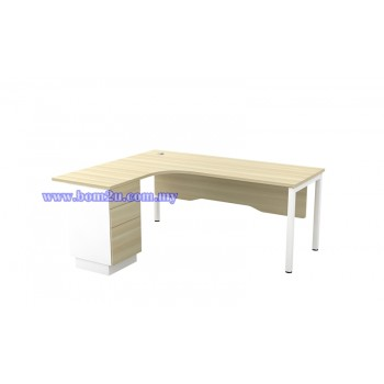 SL-Series 1515/1815-3D Melamine Woodgrain L-shape Superior Compact Table
