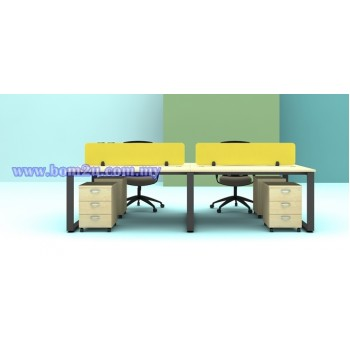 SQ-Series Cluster Of 4 Seater Workstation