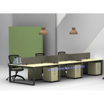 SQ-Series Cluster Of 6 Seater Workstation