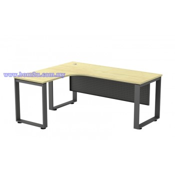 SQ-Series 552/652 Melamine Woodgrain L-shape Superior Compact Table