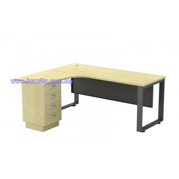 SQ-Series 552/652-4D Melamine Woodgrain L-shape Superior Compact Table