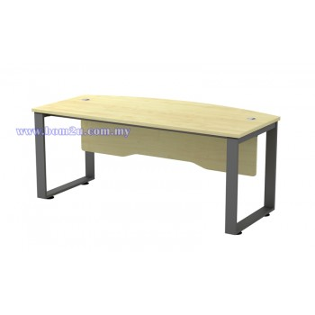SQ-Series Melamine Woodgrain 6' D-Shape Executive Table