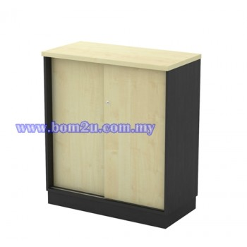 T-YS 9 Melamine Woodgrain Sliding Door Low Cabinet With Lock