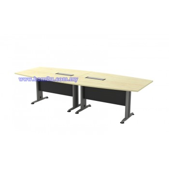 TBB-30 Melamine Woodgrain Boat Shape Conference Table