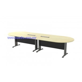 TIB-36 Melamine Woodgrain Oval Shape Conference Table