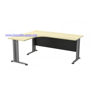TL-1515/1815 Melamine Woodgrain L-shape Superior Compact Table
