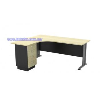 TL-1515/1815-4D Melamine Woodgrain L-shape Superior Compact Table