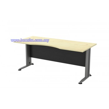 TMB-11 Melamine Woodgrain 6' Curve Executive Table
