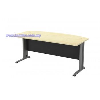 TMB-180A Melamine Woodgrain 6' D-Shape Executive Table
