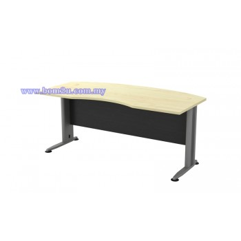 TMB-55 Melamine Woodgrain 6' D-Shape Curve Executive Table