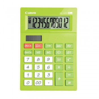 Canon AS-120V-GR-L Arc Design 12 Digits Calculator (Lime Green)