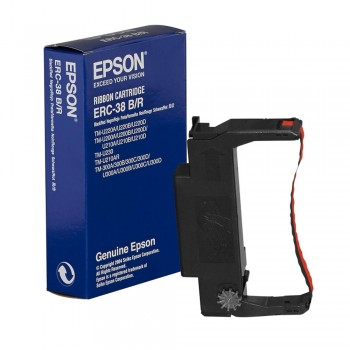 Epson ERC 38 Black/Red Ribbon