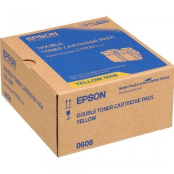 Epson SO50606 Double Pack Yellow Toner (Item No:EPS SO50606)