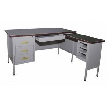 5' L-shape Steel Desk