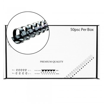 M-Bind Plastic Binding Comb - 22mm x 21 Ring, 50pcs/box, Black