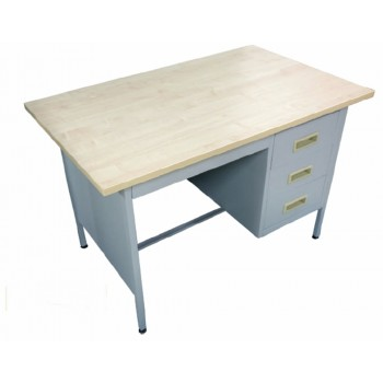 4' Single Pedestal Desk
