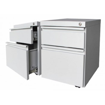 1 Drawer + 1 File Steel Mobile Pedestal