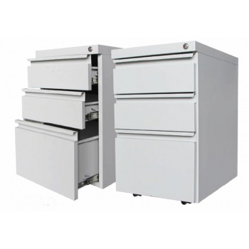 2 Drawer + 1 File Steel Mobile Pedestal (2D+1F)