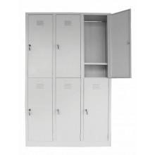 6 Compartments Multiple Steel Locker