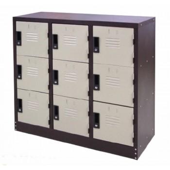 Half Height 9 Compartments Steel Locker