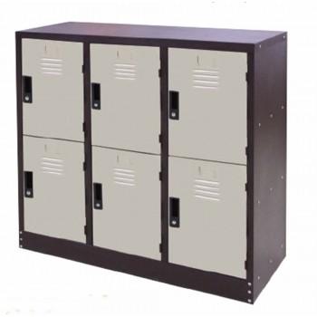 Half Height 6 Compartments Steel Locker