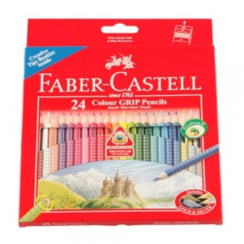 Faber Castell 24 Colour Grip Pencils (Item No:B05-02) A1R2B190