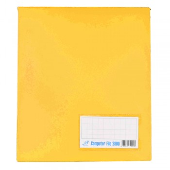 PVC COMPUTER FILE A4 - Yellow ( Item No: C01 21 YL)