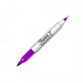 Sharpie Twin Tip Permanent Marker - Purple (Item No: A12-19 TT PUR) A1R3B27