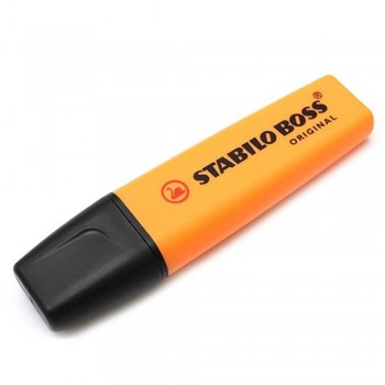 STABILO Boss Original Highlighter Pen - 70/54 ORANGE (Item No: A14-01 SSBOSSOR) A1R3B59