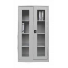 Full Height Swinging Glass Door Steel Cupboard