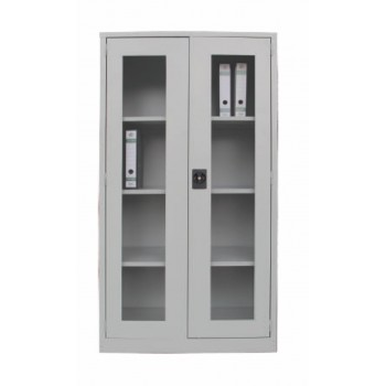 Full Height Swinging Glass Door Steel Cupboard