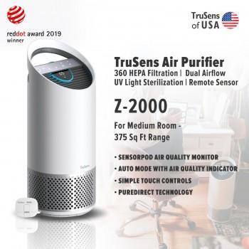 Trusens Z-2000 Air Purifier with SensorPod Air Quality Monitor, Medium Room - 375 Sq Ft Range