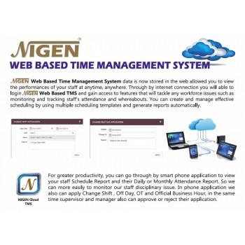 NIGEN Web-based Cloud Time Management Software License (1 Year)